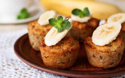 Bananen-notenmuffins (low FODMAP, vegan)