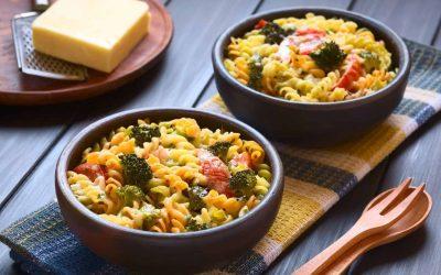 Ovenschotel met pasta (low FODMAP, vegan)