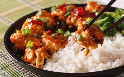 Generaal Tso's crispy tofu (low FODMAP, vegan)