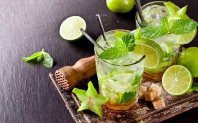 Gin mojito (low FODMAP)